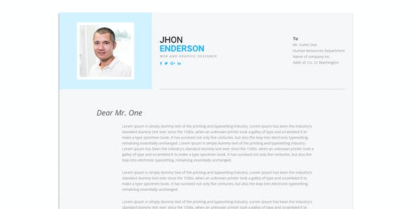 Modern-CV - Personal Resume Template