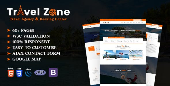 Travel Zone - Tour and Travel Agency HTML5 Template