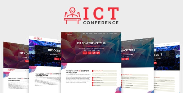 ICT - Conference HTML Template - Corporate Site Templates