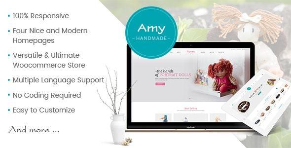 Amy Handmade - Blog and Shop WordPress Theme - WooCommerce eCommerce