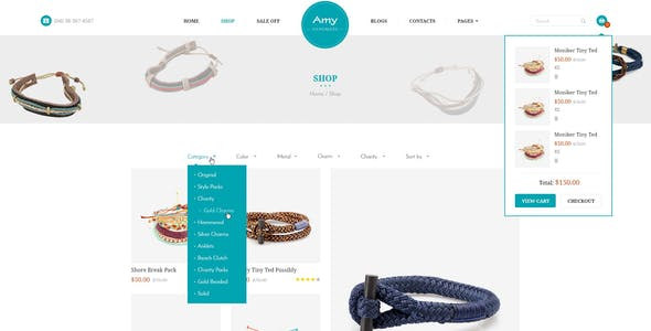 Amy Handmade - Blog and Shop WordPress Theme