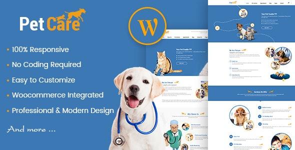 Petcare - Pet Shop and Pet Care WordPress Theme - Retail WordPress