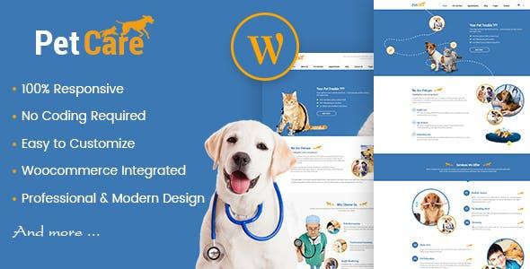 Petcare - Pet Shop and Pet Care WordPress Theme