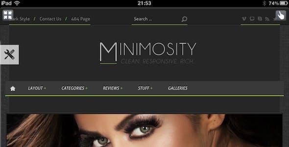 Minimosity - Magazine, Reviews and News WP Theme