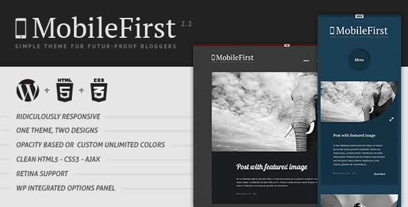 MobileFirst - WP Theme for Future-Proof Bloggers - Personal Blog / Magazine