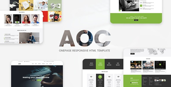 AOC - Onepage Responsive Html Template - Business Corporate