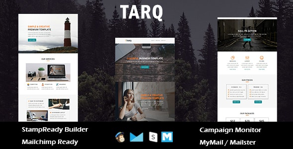 Tarq - Multipurpose Responsive Email Template With Online StampReady Builder Access - Newsletters Email Templates