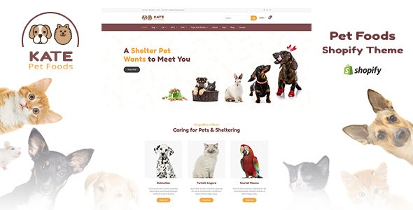 Kate - Pet Store and Pet Food Shopify Theme - Entertainment Shopify