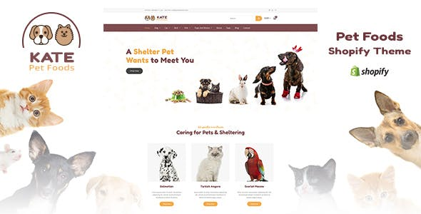 Kate - Pet Store and Pet Food Shopify Theme