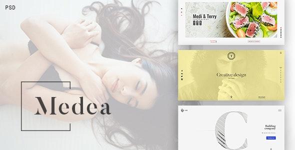Medea - PSD Template  for Corporation, Portfolio, Restaurant, Cafe - Photoshop UI Templates