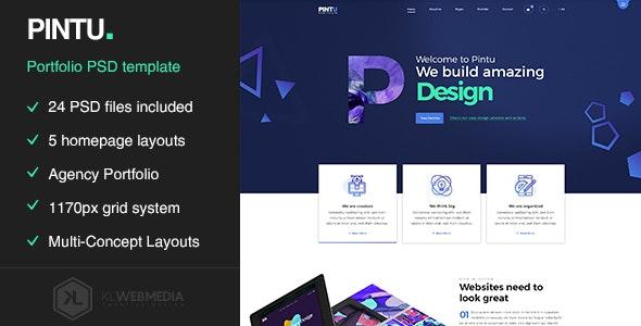 Pintu - Portfolio PSD template - Portfolio Creative