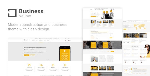 Yellow Business - Construction & Industrial Businesses   Constructions Theme - Business Corporate