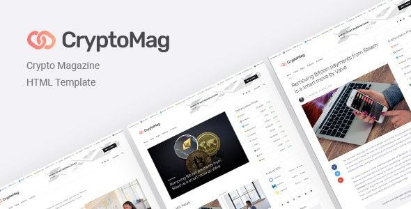 CryptoMag | Cryptocurrency Magazine HTML Template - Technology Site Templates