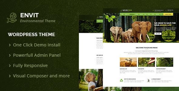 Envit – An Environmental WordPress theme - Environmental Nonprofit