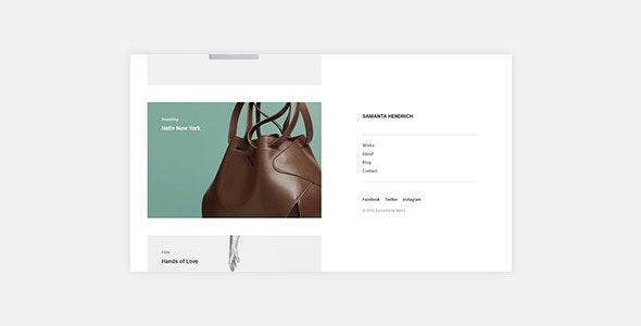 Samanta - Minimal Portfolio WordPress Theme - Portfolio Creative