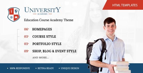 University - Education Course Academy HTML Template - Corporate Site Templates