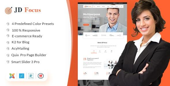 JD Focus - Multipurpose Joomla Business & eCommerce Template - Joomla CMS Themes