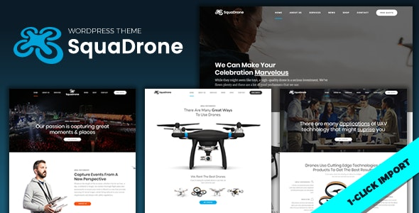 SquaDrone - Drone & UAV Business - Technology WordPress