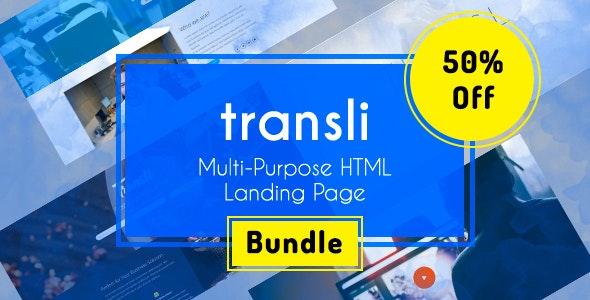 Transli - Multipurpose HTML5 Responsive Template Bundle - Creative Site Templates