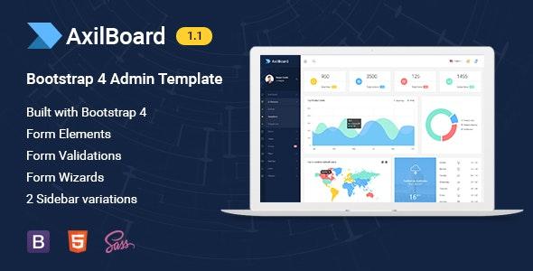 AxilBoard - Bootstrap 4 Admin Dashboard Template - Admin Templates Site Templates