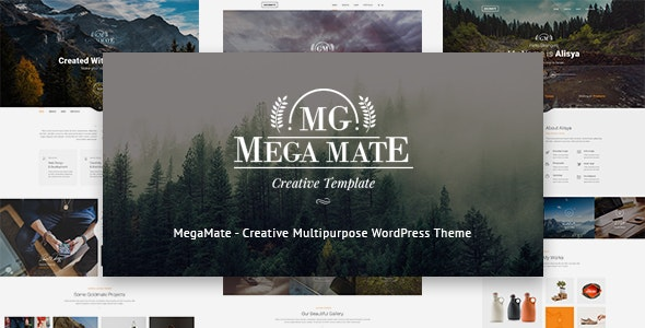 MegaMate - Creative Multipurpose WordPress Theme - Creative WordPress