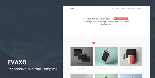 Evaxo - Responsive Minimal Template - Creative Site Templates