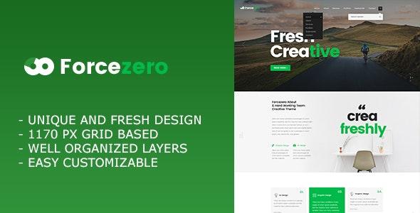 Forcezero - Onepage Creative Portfolio PSD Template - Portfolio Creative