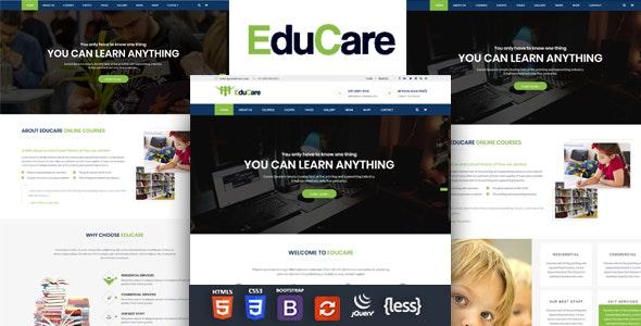 EduCare - Education Responsive HTML Template - Business Corporate