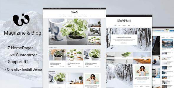 Wide - Magazine & Blog WordPress Themes - Blog / Magazine WordPress