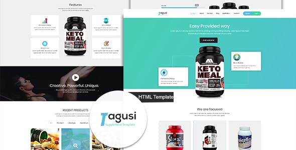 X-Tagusi Health Supplement HTML and Sass Template
