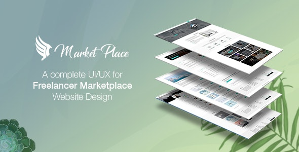 Yes Market Place - Freelance Marketplace PSD Template - Business Corporate
