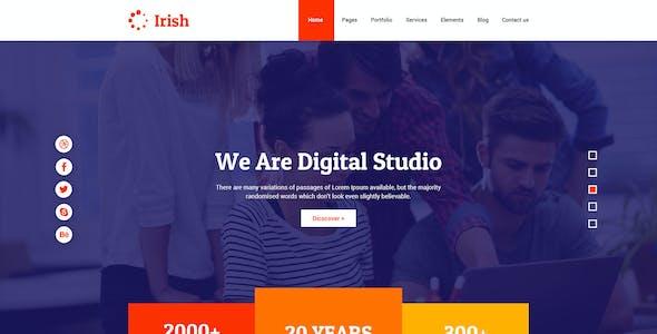 Irish - A Fresh Multipurpose Creative PSD Template