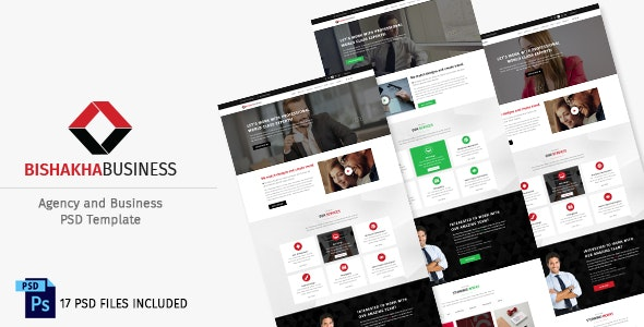 Bishakha - Business and Agency PSD Template - Creative Photoshop