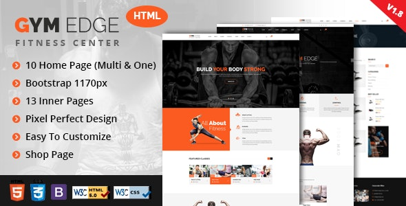 GYM Edge - Fitness HTML5 Responsive Template - Health & Beauty Retail