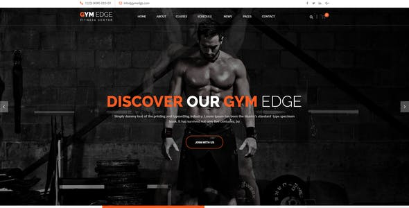 GYM Edge - Fitness HTML5 Responsive Template