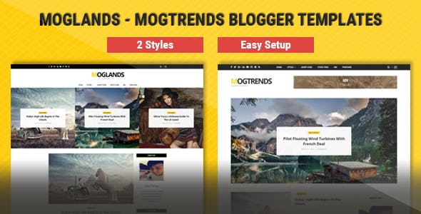 Download Mogtemplates - MogLands Template For Blogger - 2 Styles