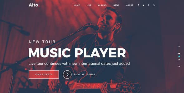 Alto - Musician Landing Page