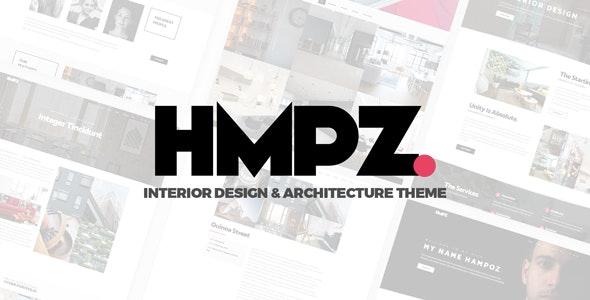 Hampoz - Responsive Interior Design & Architecture Theme - Portfolio Creative