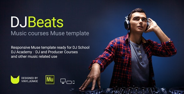 DJBeats - DJ Courses / Scratch School / Music Academy Responsive Muse Template - Miscellaneous Muse Templates