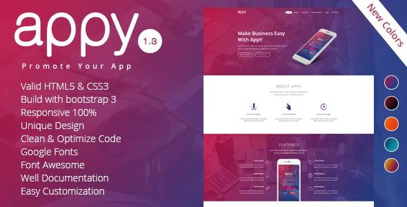 appy | App Landing Page - Site Templates