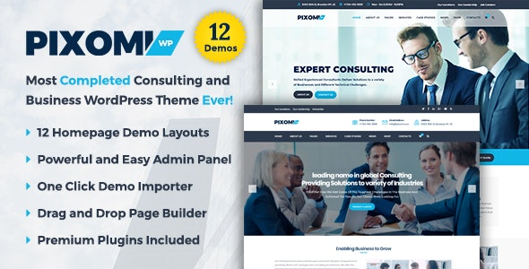 Pixomi - A Modern Consulting and Business WordPress Theme - Business Corporate