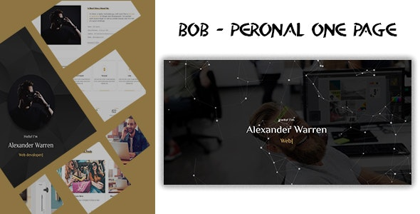 bob - Personal One Page Template - Personal Site Templates