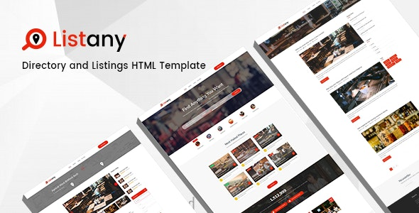 Listany - Directory and Listings PSD Template - Corporate Photoshop