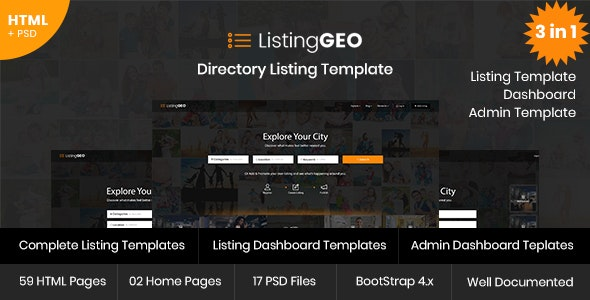 ListingGEO - Directory Listing Template - Business Corporate