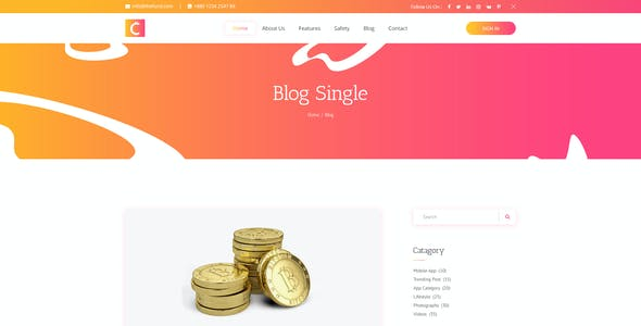 CryptoCoin – Cryptocurrency PSD Template