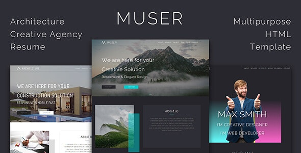 Muser_Multipurpose HTML Template - Creative Site Templates