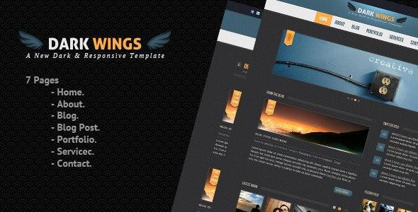 Dark Wings - PSD Template - Creative Photoshop