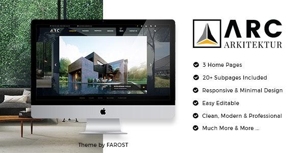 ARC Architecture - Interior Design PSD Template - Business Corporate