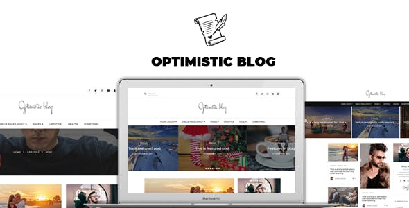 Optimistic Blog -Clean  HTML Blog Template
