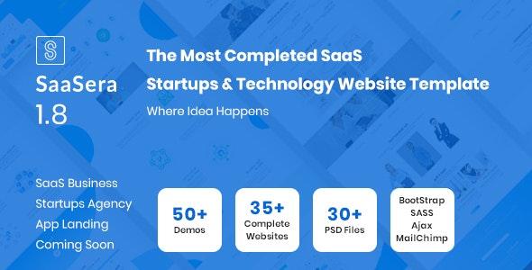SaaSera - Software, App & SaaS Startups Template - Software Technology